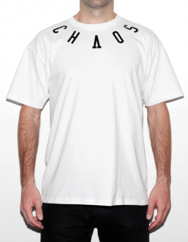 camiseta eibi chaos order blanca