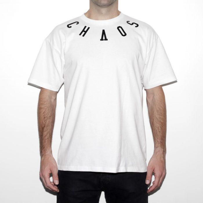 camiseta eibi chaos order blanca front
