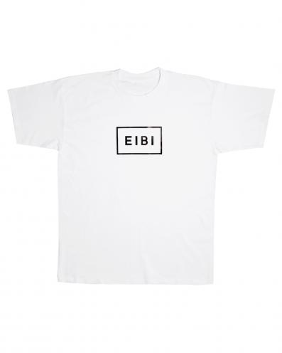 Eibi Black Logo White Tee