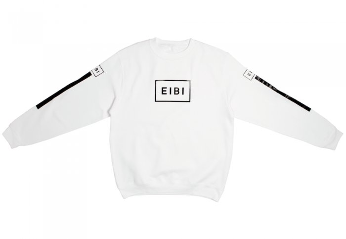 Eibi Parallel White Crewneck