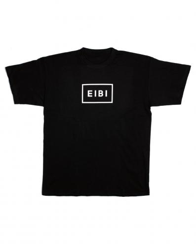 Eibi White Logo Black Tee