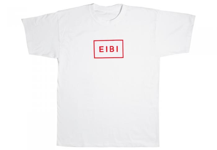 Eibi Red Logo White Tee