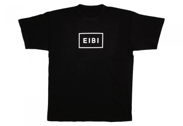 Eibi White Logo Black Tee-13
